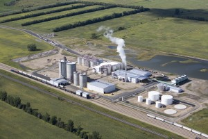 An aerial view of the ethanol plant near Hankinson. Photo courtesy of Hankinson Renewable Energy.
