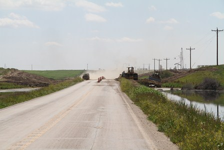 Oil patch road construction